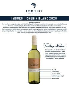 Details of Imbuko Chenin Blanc
